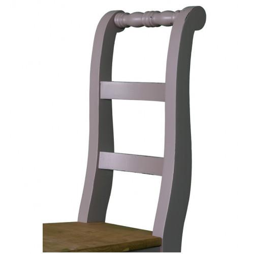 Chaise à dossier courbé 3 barrettes