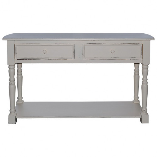 console en bois massif 2 niveaux 2 tiroirs demeure et. Black Bedroom Furniture Sets. Home Design Ideas