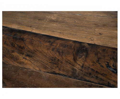 Chaise haute de bar industrielle metal et vieux bois