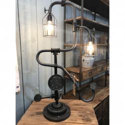 Originale Lampe vintage industrielle en métal - 102 cm