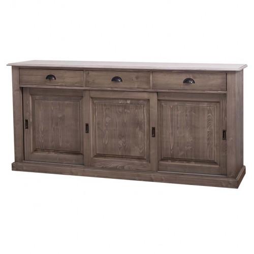 enfilade en bois massif avec portes coulissantes demeure. Black Bedroom Furniture Sets. Home Design Ideas