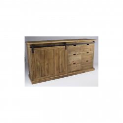 Enfilade «Allen» style atelier en bois naturel vieilli