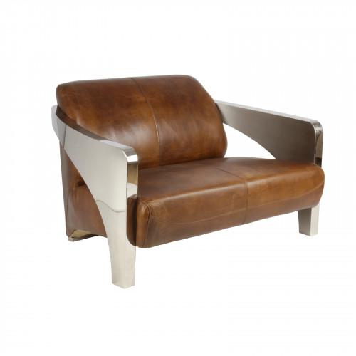 Canapé en cuir «Le Rutilant»