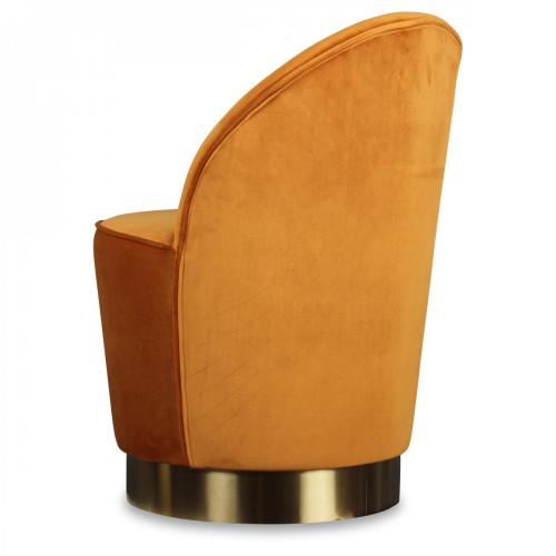 Fauteuil Flora en velours couleur cuivre