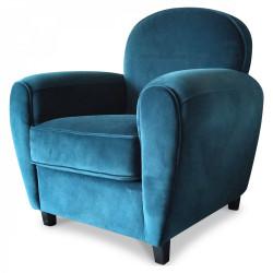 Fauteuil CLUB «Le Relaxant» en velours bleu