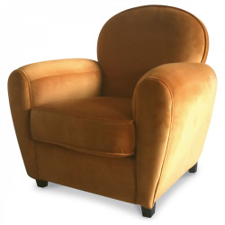 Fauteuil CLUB « Le relaxant » caramel