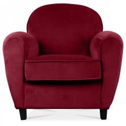 Fauteuil club «Le relaxant» velours rouge CINEMA