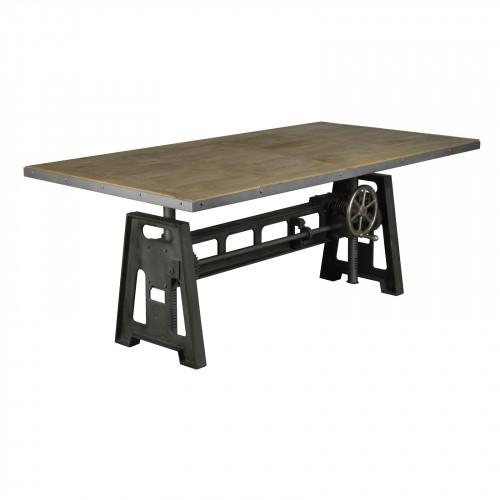 Table industrielle à manivelle - 250x100 cm