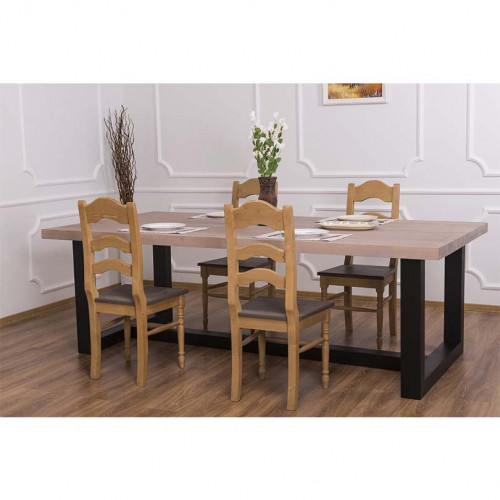 Table à manger en bois massif personnalisable
