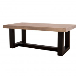 Table basse contemporaine en bois massif