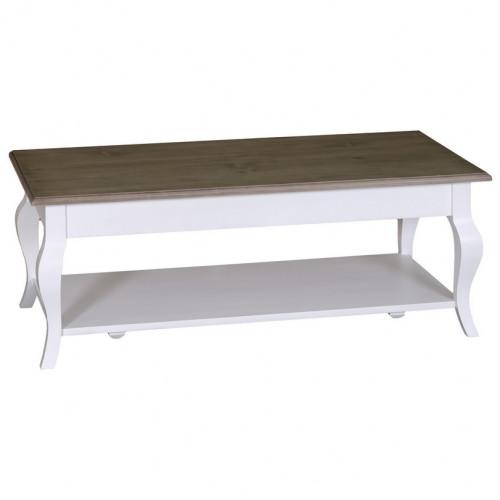Table basse personnalisable aux pieds galbés