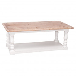 Table basse en bois massif ROMANE - 120x65x48 cm