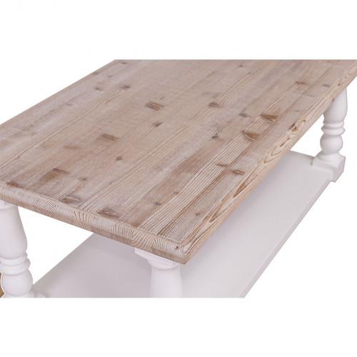 Table basse en bois massif à 2 niveaux