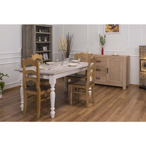 Table à manger rectangulaire aux pieds tournés - 180x90x78cm