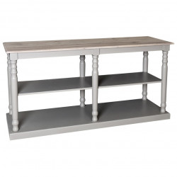 Table de mercerie avec plateau en Zinc acier