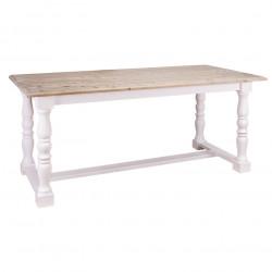 Table à manger rectangulaire avec barre centrale