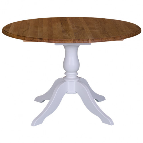 Table Ronde Ø120cm avec 1 allonge de 30cm