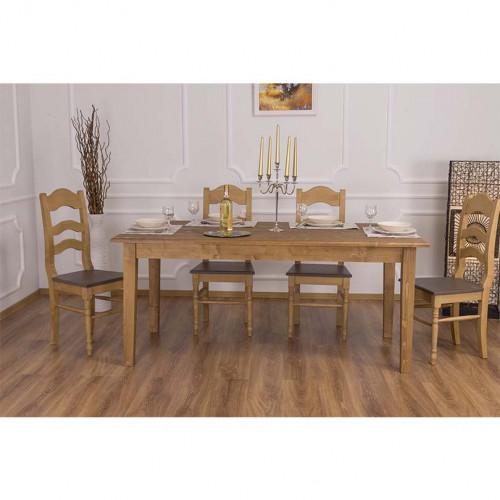 Table de salle à manger rectangulaire en bois massif