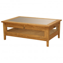 Table de salon en pin massif ROMANE - 120x80x45 cm