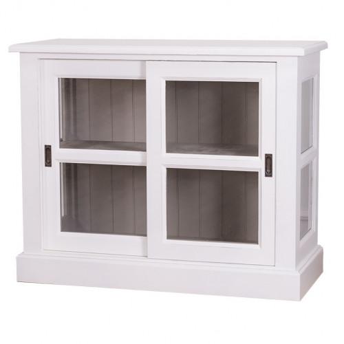 Petite vitrine avec 2 portes vitrées
