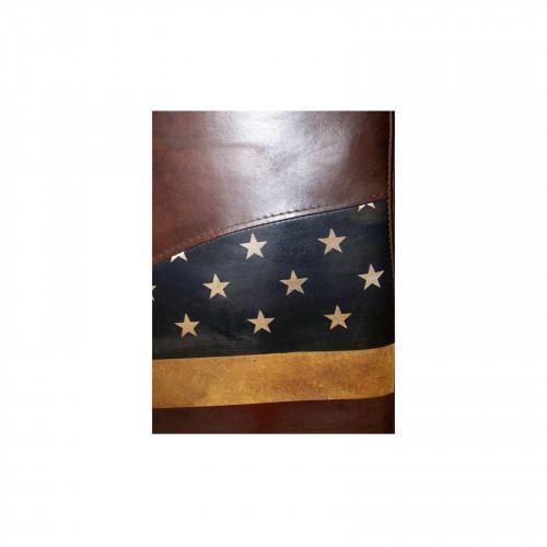 Fauteuil en cuir véritable «The USA»