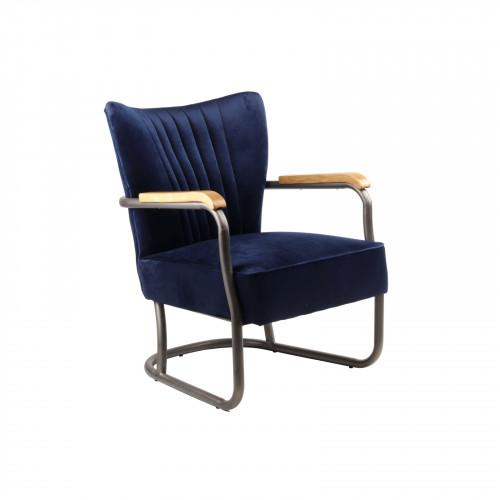 Ocean Blue fauteuil en velours