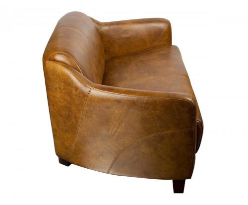 Canapé vintage OXFORD en cuir whisky
