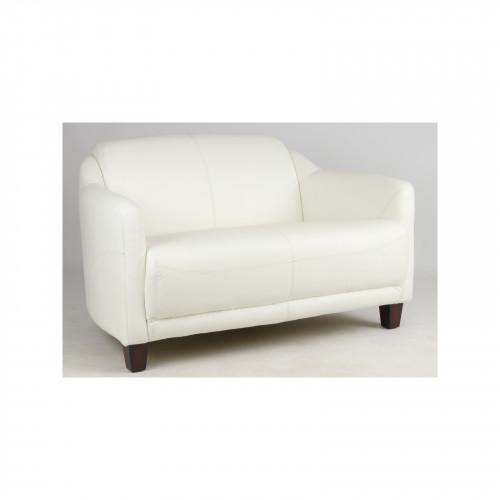 Canapé vintage OXFORD en cuir blanc