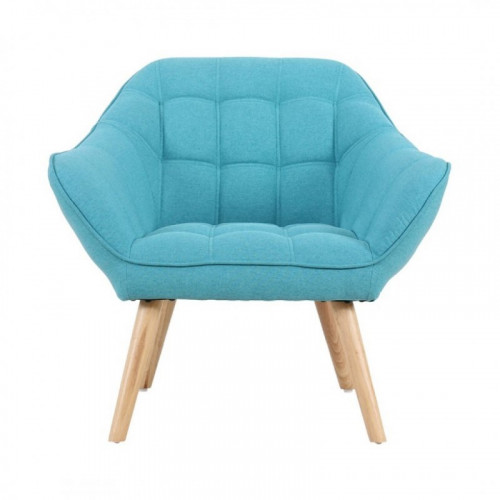Fauteuil VISBY de style scandinave en tissu bleu