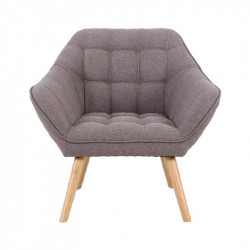 Fauteuil VISBY de style scandinave en tissu gris