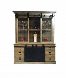 Buffet cabinet vintage industriel - 165x50x236
