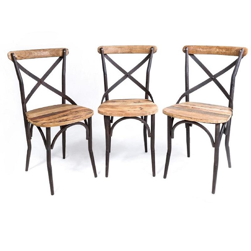 chaise bistrot de style vintage industrielle m tal et. Black Bedroom Furniture Sets. Home Design Ideas