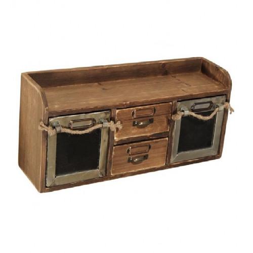 bo te pices de style vintage industriel en vieux bois demeure et jardin. Black Bedroom Furniture Sets. Home Design Ideas