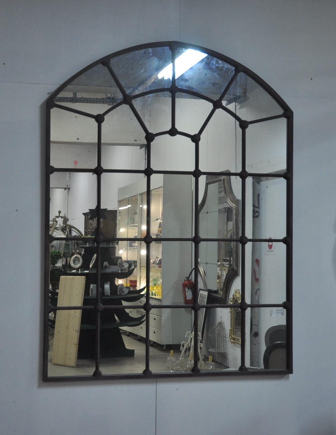 Grand miroir atelier en m tal de style industriel 140x180 cm demeure et jardin for Grand miroir mural industriel