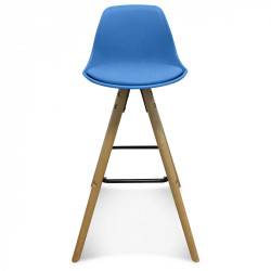 Chaise de bar scandinave bleue