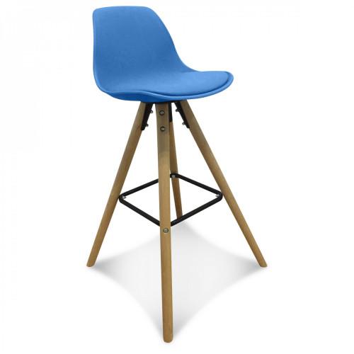 Chaise de bar scandinave bleue