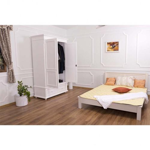 Lit 2 personnes avec Tête de lit ROMANE | 180x200cm