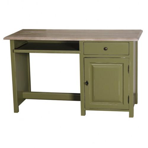 Bureau avec 1 porte, 1 tiroir, et tablette coulissante | 130x60x78cm