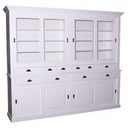 Buffet Vaisselier avec 10 tiroirs et 8 portes | 268x48x225cm