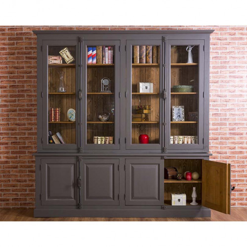 Grande Bibliothèque Vitrine ROMANE - 223x50x228 cm