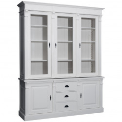 Buffet Vaisselier avec 3 tiroirs et 5 portes | 183x51x228cm