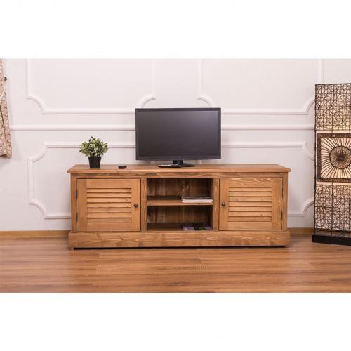 Meuble TV en Pin massif ROMANE | 160x46x56cm