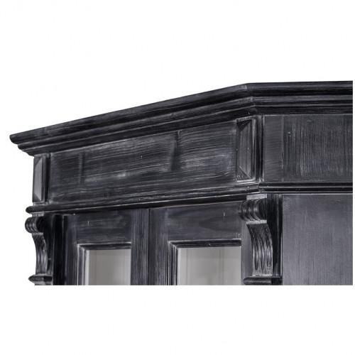 buffet d'angle en bois massif ROMANE - 114x54x228 cm