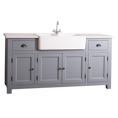 f5d50a74652acf ... Meuble de cuisine avec évier intégré de 18 cm-4 portes et 2 tiroirs ...