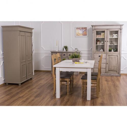 Table à manger ROMANE en bois massif - 140x90x78