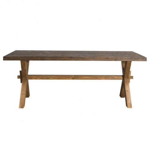 Grande table de repas en pin massif - ROMANE