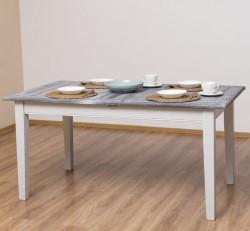 Table de repas extensible ROMANE en bois massif - 160/220x90x78 cm