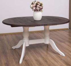 Table ovale extensible en bois massif ROMANE - 160/230x120x78 cm
