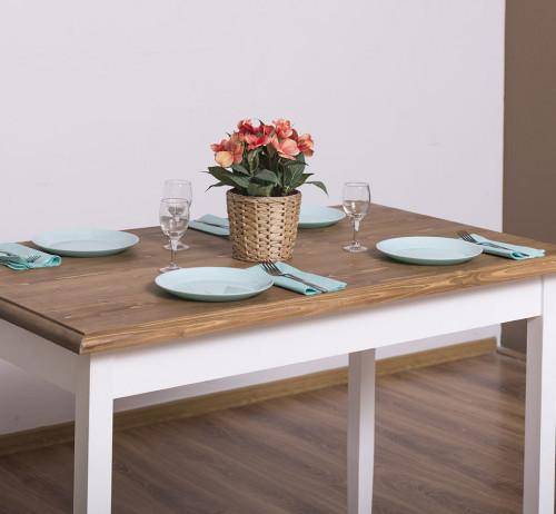 Table de cuisine ROMANE en bois massif - 120x70x78