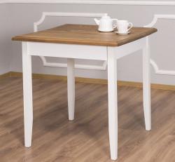 Table de cuisine carrée ROMANE en bois massif - 80x80x78